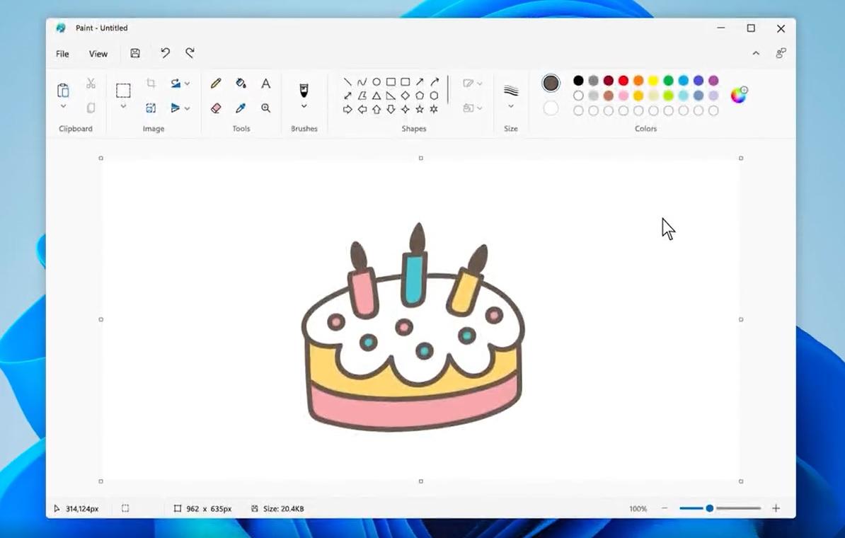 طراحی اپلیکیشن ms paint
